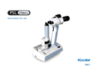 Keeler PSL Classic Portable Slit Lamp Instructions for Use